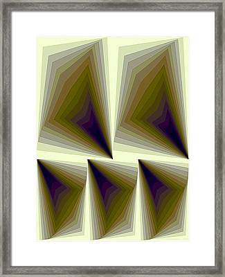 Composition 166 Framed Print by Terry Reynoldson