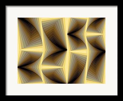 Algorithmic Abstract Paintings Framed Prints