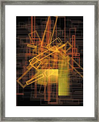 Composition 26 Framed Print by Terry Reynoldson