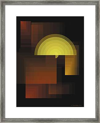 Composition 27 Framed Print by Terry Reynoldson