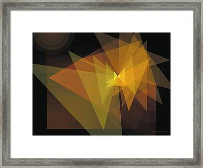 Composition 28 Framed Print by Terry Reynoldson