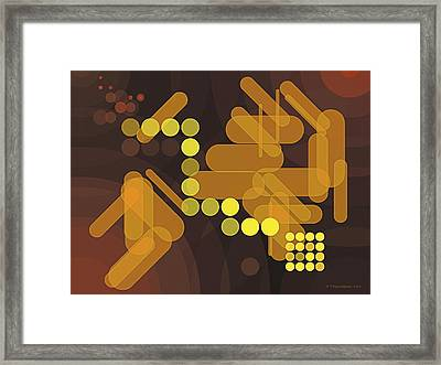 Composition 38 Framed Print by Terry Reynoldson