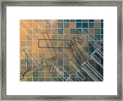 Composition 45 Framed Print