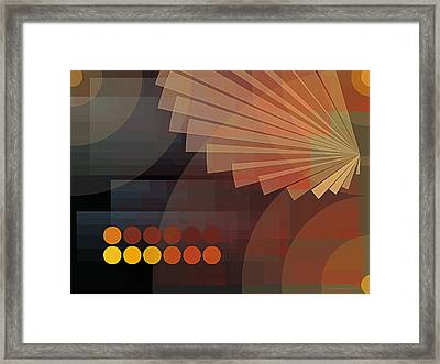 Composition 51 Framed Print by Terry Reynoldson