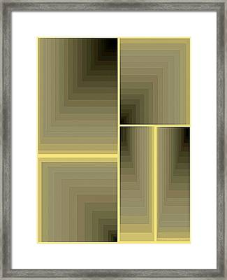 Composition 64 Framed Print by Terry Reynoldson