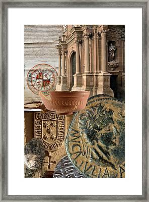 Composition For Poster Xiv Jornadas De Estudios Calagurritanos Framed Print by RicardMN Photography
