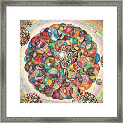 Composition Of Circles In Circles Framed Print by George Curington