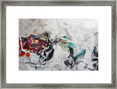 Composition On White Framed Print by Andrada Anghel