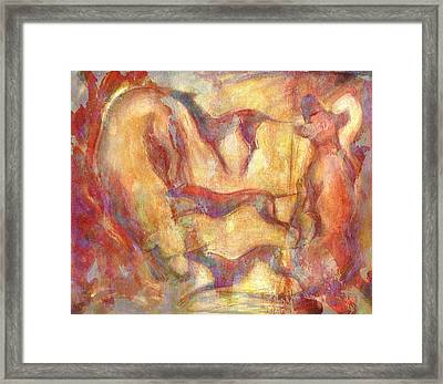 Composition With Dogs Framed Print by Nato  Gomes