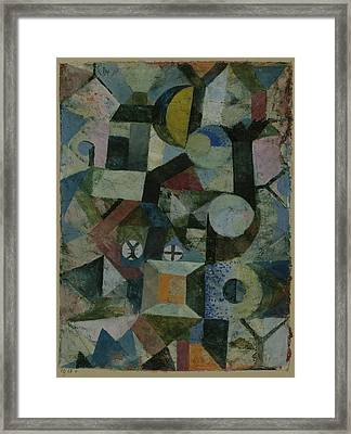Composition With The Yellow Half-moon Framed Print