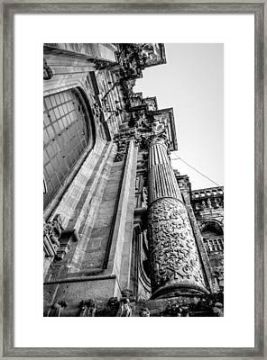 Compostela Cathedral Columns Framed Print