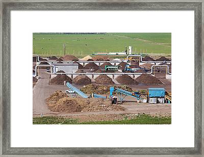 Composting Recycling Facility Framed Print