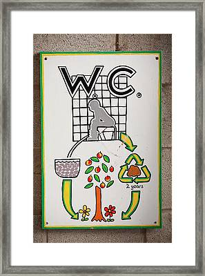 Composting Toilet Framed Print
