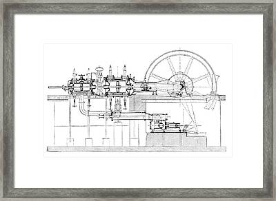 Compound-tandem Engine Framed Print by Science Photo Library