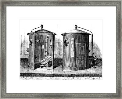 Compressed Air Baths Framed Print by Collection Abecasis