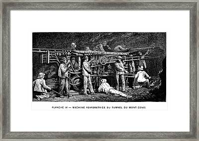 Compressed Air Rock Drill Framed Print by Universal History Archive/uig
