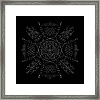 Compression Inverse Framed Print