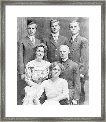 Compton Family Framed Print by Aip Emilio Segre Visual Archives, Physics Today Collection