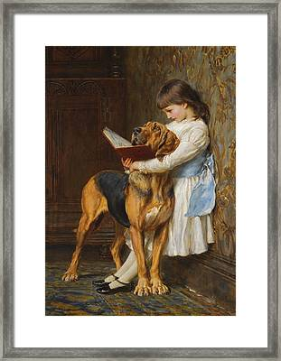 Compulsory Education Framed Print by Briton Riviere