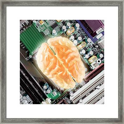 Computer Brain Framed Print by Christian Darkin