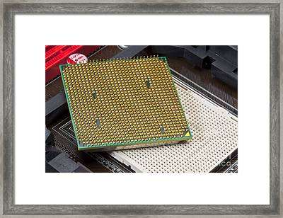 Computer Central Processing Unit Framed Print by Martyn F. Chillmaid