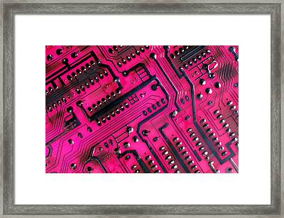Computer Circuit Board Framed Print by Anonymous