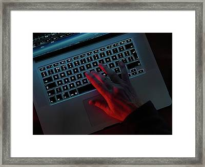 Computer Fraud Framed Print