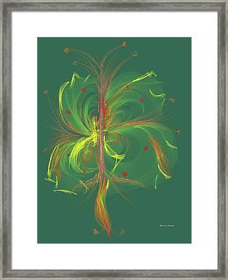 Computer Generated Floral Design Framed Print