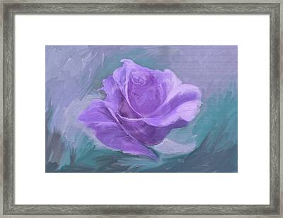 Computer Generated Image Of A Purple Framed Print