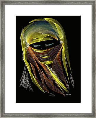 Computer Generated Image Of A Woman S Framed Print