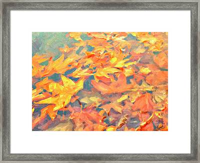 Computer Generated Image Of Autumn Framed Print