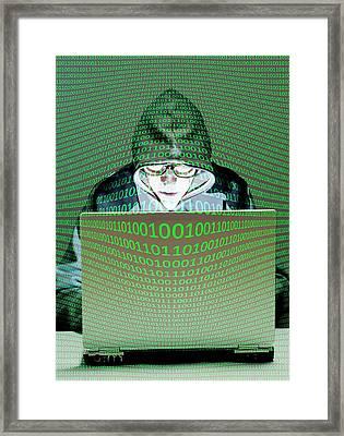 Computer Hacker Framed Print