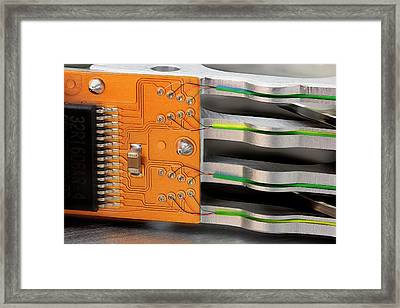 Computer Hard Disc Arm Framed Print by Antonio Romero
