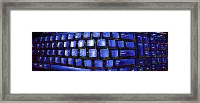 Computer Keyboard  Framed Print by Dan Twyman
