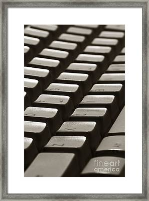 Computer Keyboard Framed Print by Olivier Le Queinec