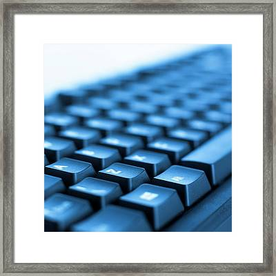 Computer Keyboard Framed Print by Science Photo Library