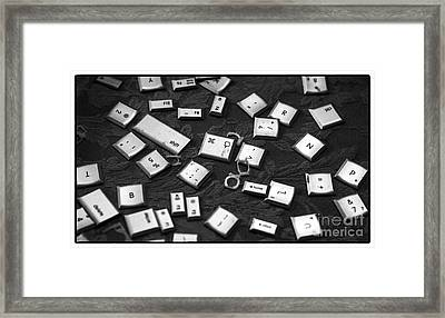 Computer Keys Framed Print by Iris Richardson