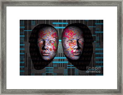 Computer Minds Linking On A Global Framed Print