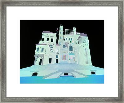 Computer Model Of Ancient Theatre Framed Print
