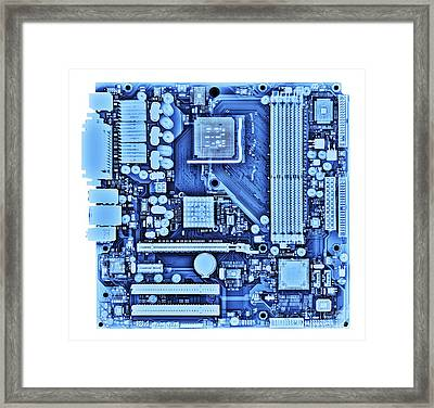Computer Motherboard, X-ray Framed Print