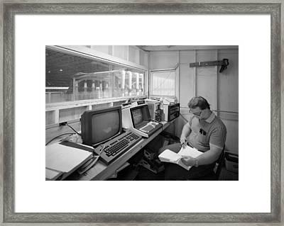 Computer Room, 1986 Framed Print