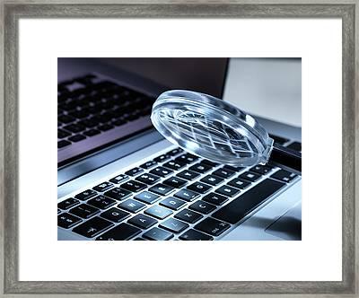 Computer Security Crime Framed Print