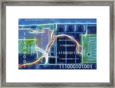 Computing - Fractalius 2 Framed Print by Steve Ohlsen