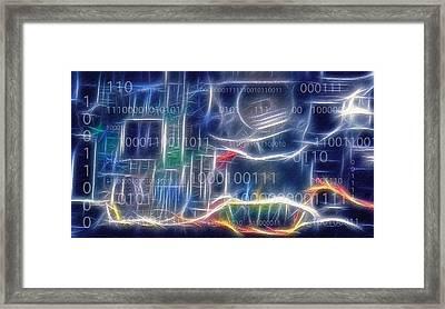 Computing - Fractalius Framed Print by Steve Ohlsen