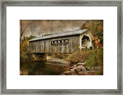 Comstock Bridge 2012 Framed Print by Deborah Benoit