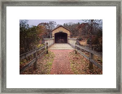 Comstock Covered Bridge 2 Framed Print by Joan Carroll