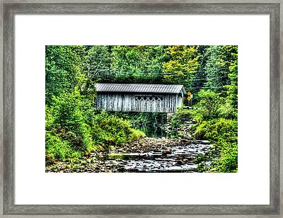 Comstock Covered Bridge Framed Print