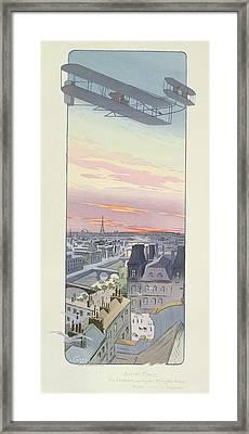 Comte Charles De Lambert Flying Framed Print by Marguerite Montaut