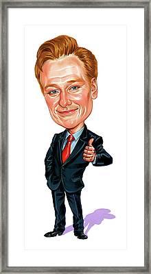 Conan O'brien Framed Print by Art