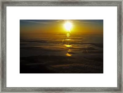 Conanicut Island And Narragansett Bay Sunrise II Framed Print